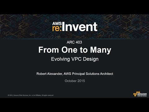AWS re:Invent 2015: From One to Many - Evolving VPC Design (ARC403)