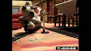Wallace and Gromit Train Scene Composition