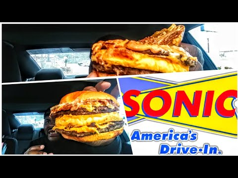 Sonic new Biggie cheeseburger🍔🍔🍔🍔