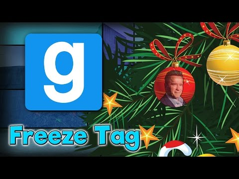 ARNOLD SCHWARZENEGGER AS SANTA!!! - GMOD Freeze Tag Funny Moments