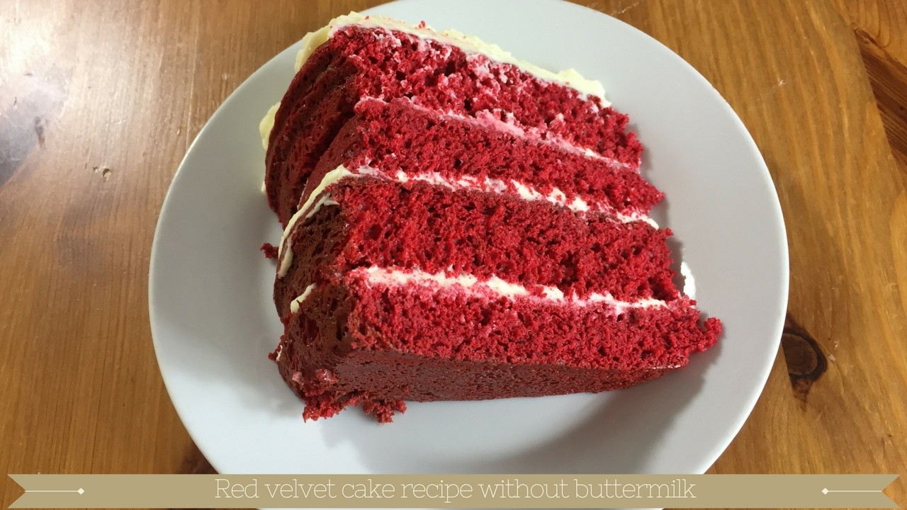 Simple red velvet cake recipe without buttermilk