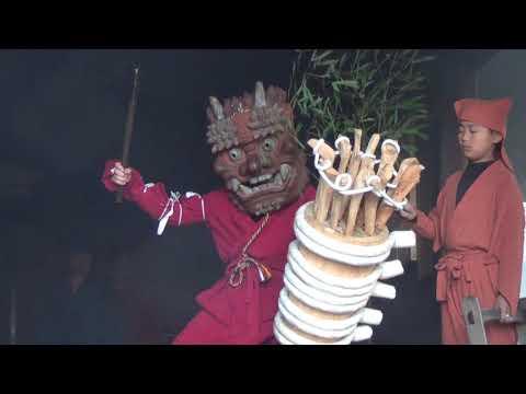 陀々堂の鬼走り奈良県五條市:2019年1月14日