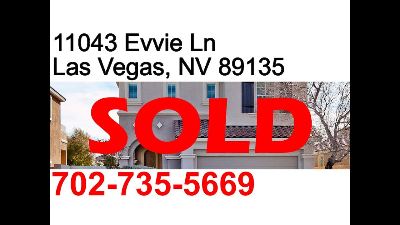 Sold 3 Bedroom 2 Story House For Sale In Summerlin Las Vegas Nevada Youtube