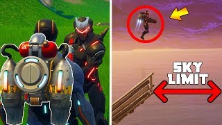 CAN JETPACKS get above 'SKY LIMIT?' (Fortnite Jetpack STAIRWAY TO HEAVEN)