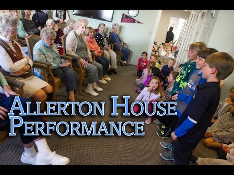 Derby Academy First Graders Sing at Allerton House