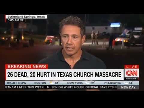 Chris Cuomo CNN Morning Show coverage of Texas Church Massacre 26 dead, 20 hurt worst shooting in Tx