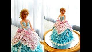 Как ОЧЕНЬ ПРОСТО СДЕЛАТЬ ТОРТ БАРБИ от SWEET BEAUTY СЛАДКАЯ КРАСОТА Barbie Doll Cake