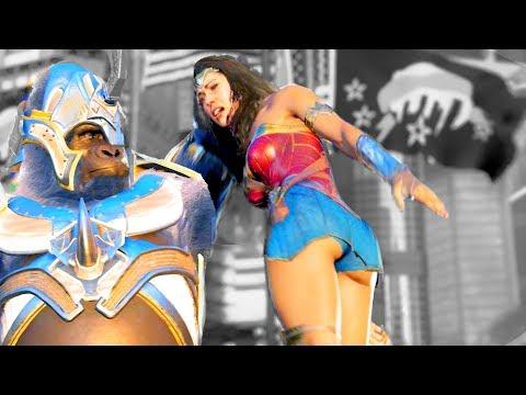 Injustice 2 All GOD Super Moves on Wonder Woman Movie Costume (Amazon Warrior) (No HUD) 4k UHD 2160p