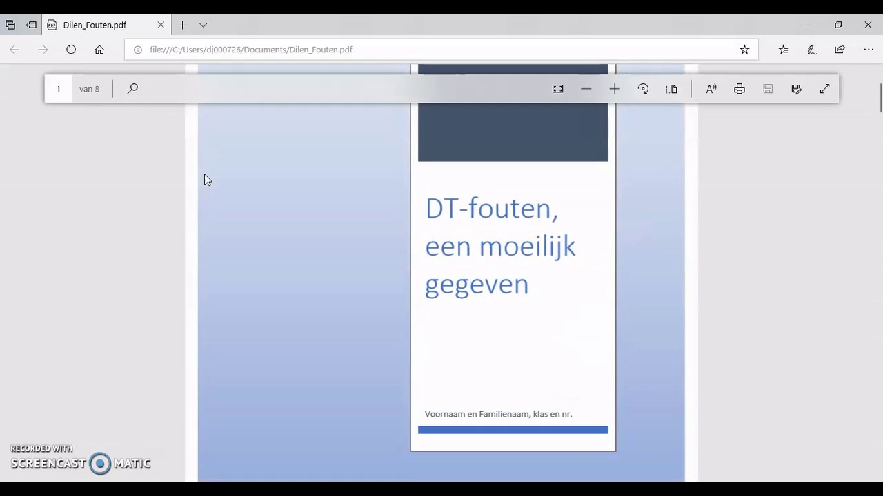 Ms Word Bestand Omzetten Naar Pdf Youtube