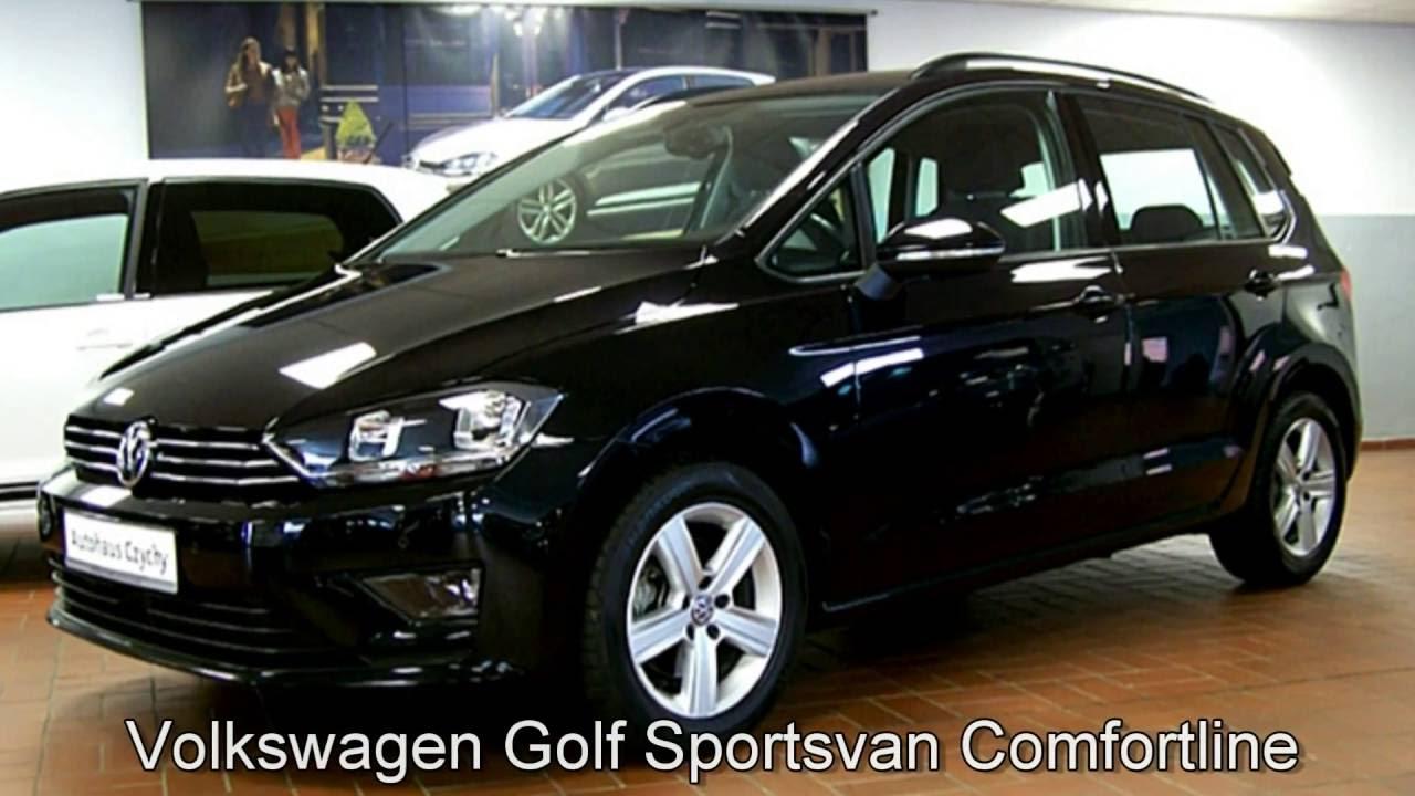 volkswagen golf sportsvan 1 6 l tdi comfortline fw523370 deep black perleffekt youtube. Black Bedroom Furniture Sets. Home Design Ideas