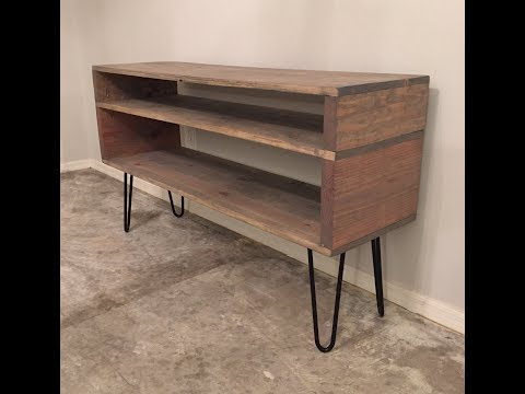 Super Easy DIY Mid-Century Console Furniture Build with Hairpin Legs