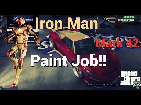 Iron Man Mark 42 Paint Job: GTA V Themed Paint Jobs