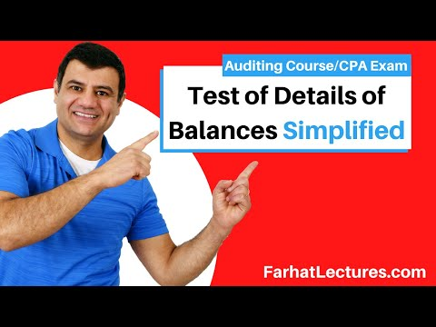 Test of details balances variable testing AUD CPA exam Auditing and Attestation
