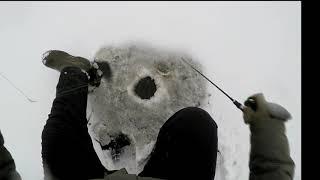 Открытие зимнего сезона на таёжном озере Рыбы мало Рыбалка в Сургуте