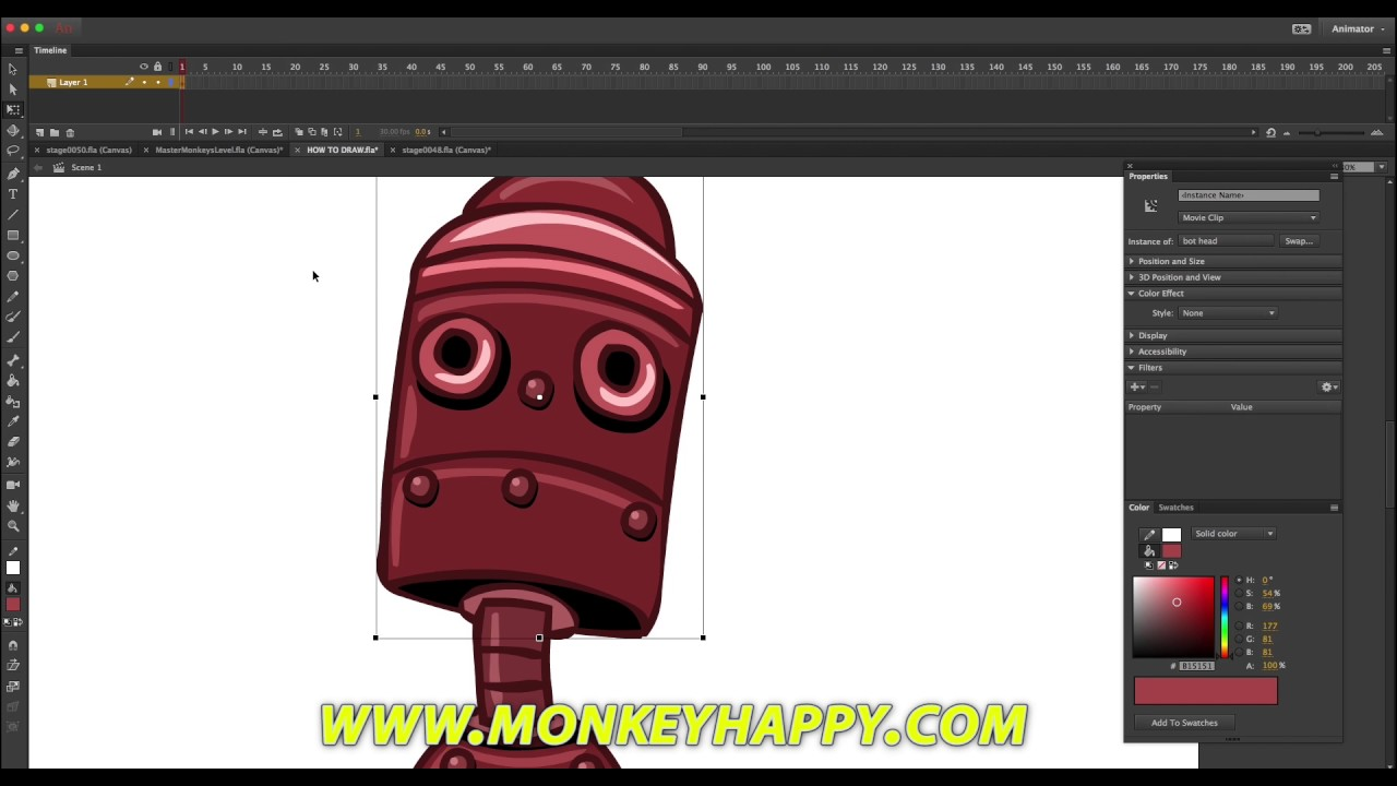 How To Draw A Little Walking Bot  Adobe Animate Cc