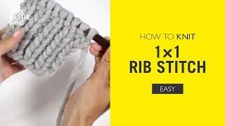how to knit 1x1 Rib stitch