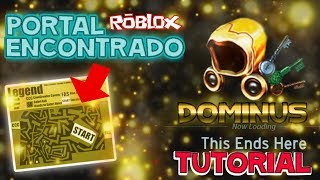 TUTORIAL FIND THE portal to the GOLDEN DOMINUS EGGHUNT 2017 roblox in Spanish ready player one