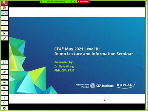CFA 2021 Level III – Institutional Investors – Dr. Kyle Wong, PhD, CFA, FRM