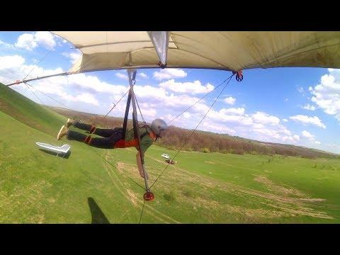 Учусь летать на дельтаплане. 14 выезд.Открытие лётного сезона 5 мая 2018. Немного жести.