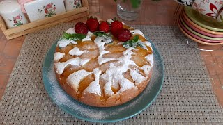 Творожный Пирог с Персиками в Мультиварке Безумно Вкусно и Сочно