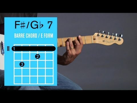 How to Play F ♯ 7 / G♭ 7 Barre Chord | Guitar Lessons - YouTube