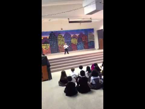 Max's dance at the Challenger School talent show, Technologic by Daft Punk