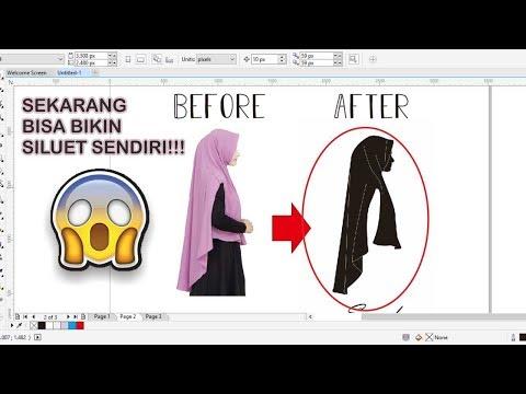 Ini adalah tutorial untuk membuat siluet dengan cara menggunakan CorelDraw l Tutorial membuat Siluet.
