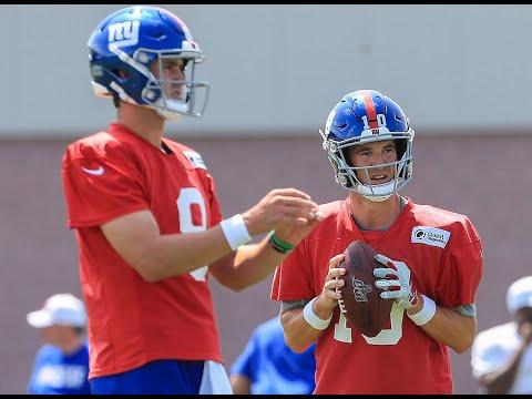 Giants Eli Manning Daniel Jones Practice Highlights