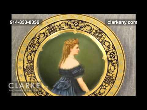 Post Auction   3 Royal Vienna Porcelain Portrait Plates   Pottery   Clarke Auction Gallery