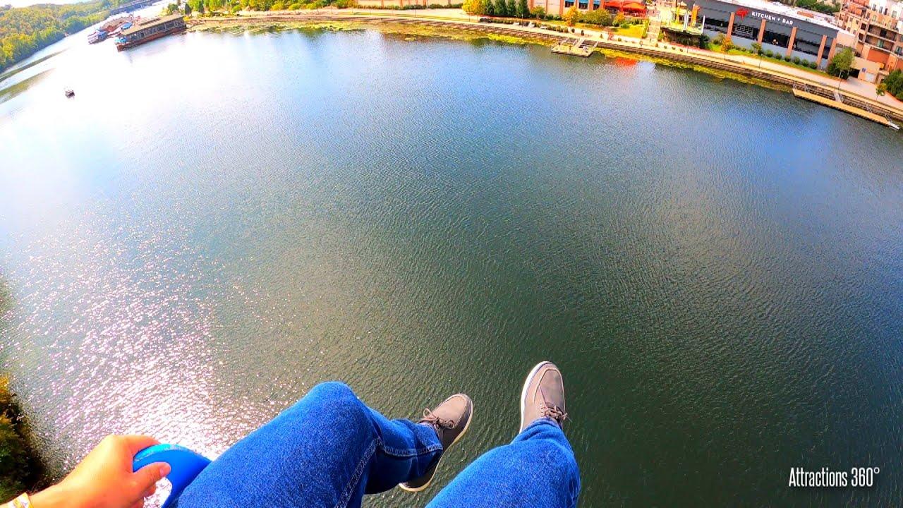 Soaring Eagle Zipline - Zipline Across a River - Branson Landing 2020