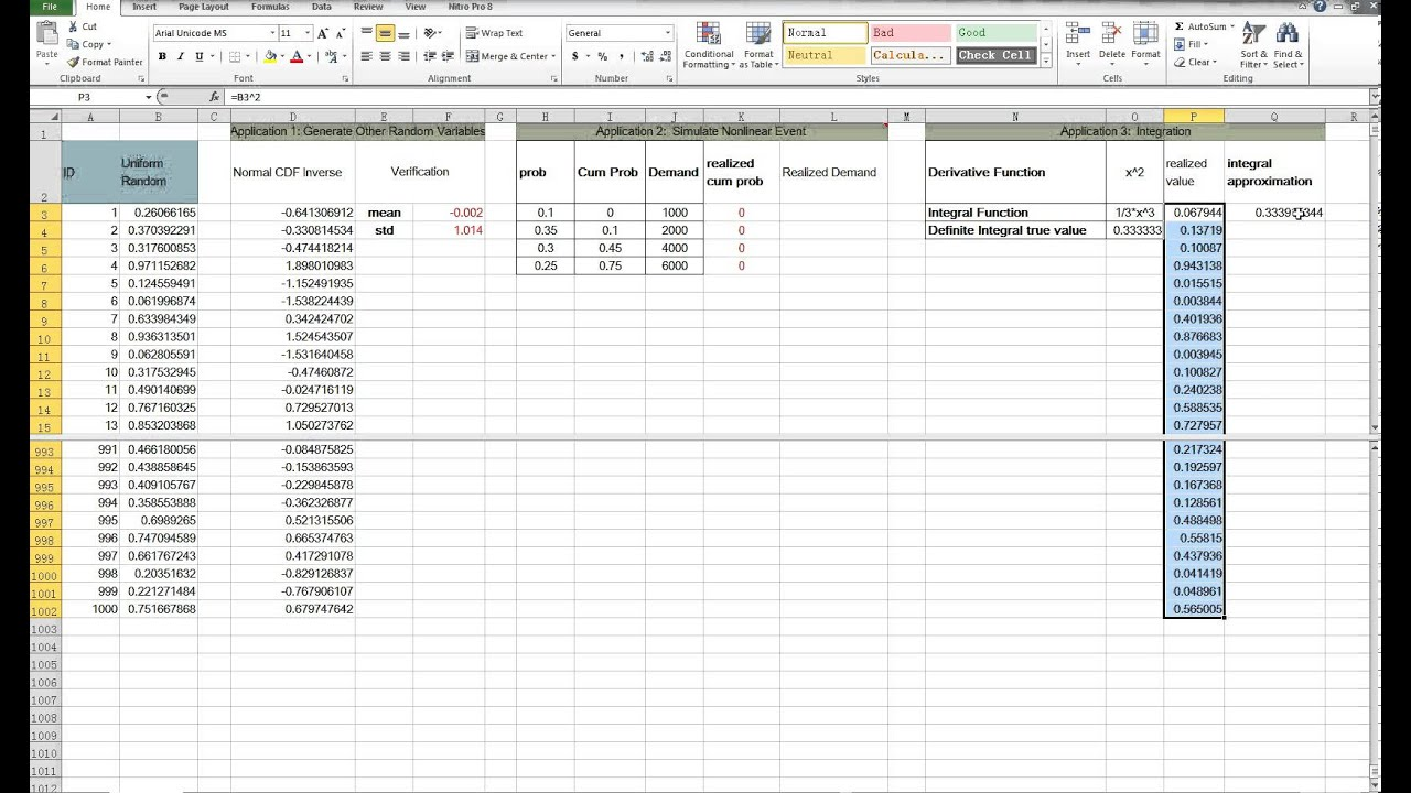 monte carlo simulation in excel youtube