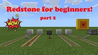 Redstone for beginners -part 2