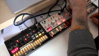 Korg Volca Beats, Volca Bass, Volca Keys. Generic Electronic Music.