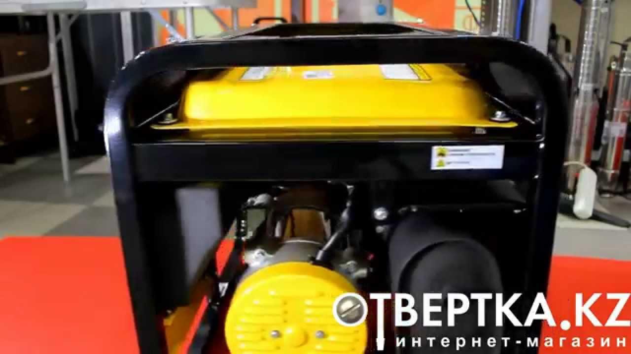 Бензиновый генератор HUTER DY8000LX. Бензогенератор 6,5 квт. - YouTube