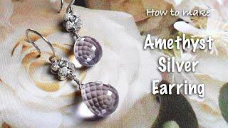 Handmade jewelry | Amethyst Earring | Earring DIY |Jewelry D…