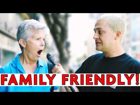 ASKING STRANGERS 'FAMILY FRIENDLY QUESTIONS' | Chris Klemens