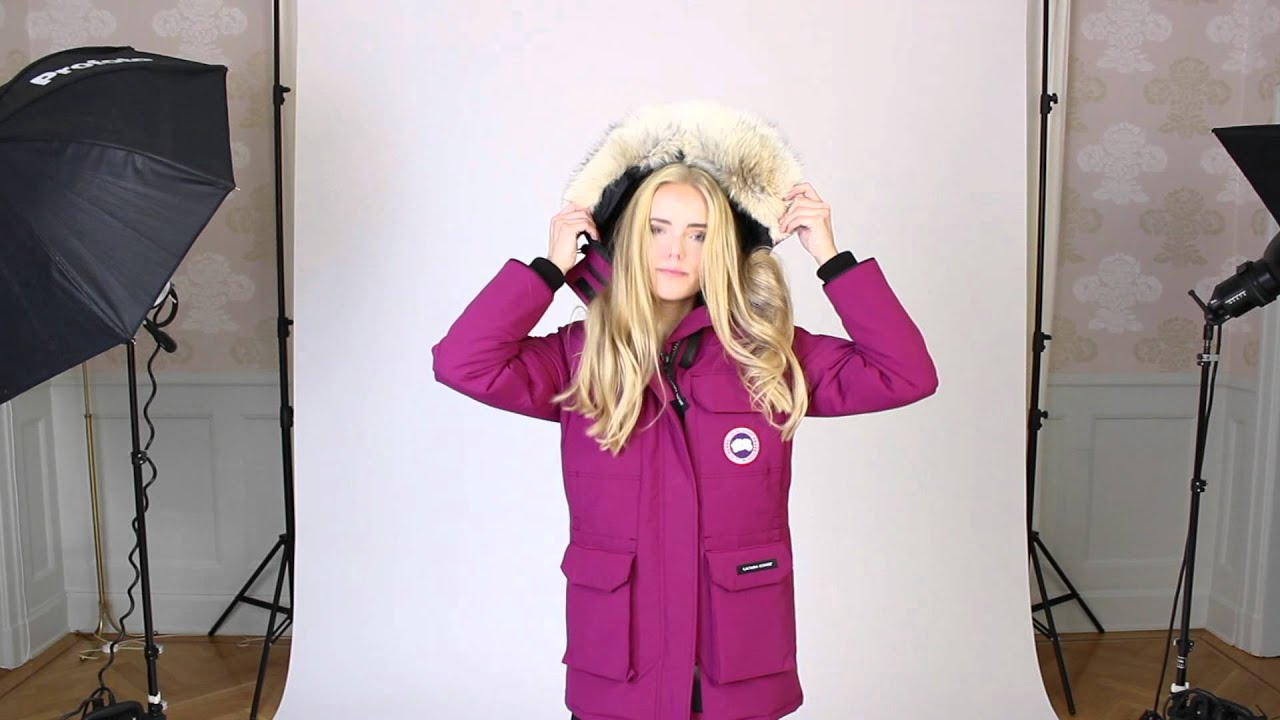 Canada Goose womens replica fake - Canada Goose jacka Expedition parka berry small 2012/09/15 - YouTube
