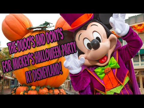 The Duoo's and Dont's for Mickey's Halloween Party at Disneyland! Mp3