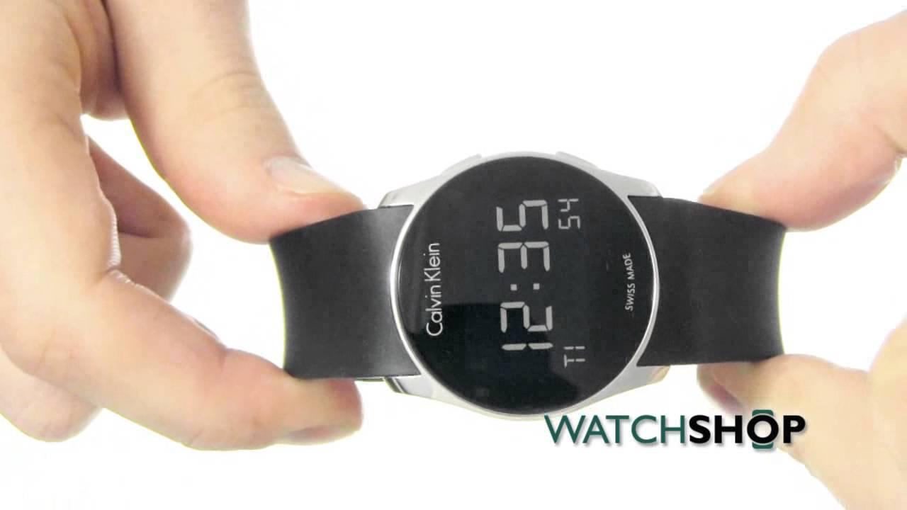 cf1492a3be84 Calvin Klein Men s Future Alarm Watch (K5B23TD1) - YouTube