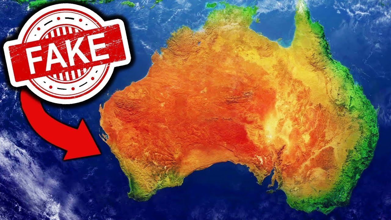 Show Me A Map Of Australia.It Turns Out Australia Is Fake