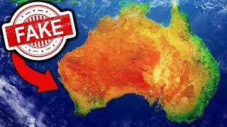 it turns out australia is fake