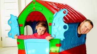 Nasta Play и Папа Строит Новый Домик  для детей