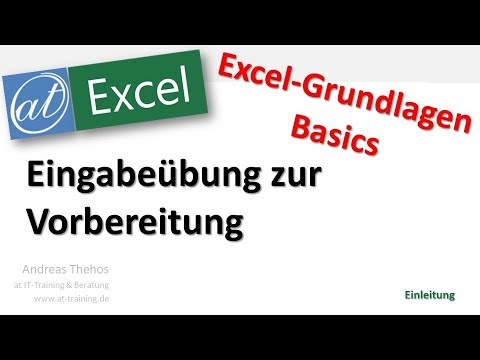 Youtube Excel Grundkurs