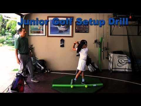 Junior Golf Setup Drill || Golf Tips