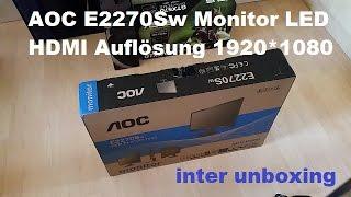 aOC E2270Sw Monitor LED HDMI Auflösung 1920*1080 60Hz FULL HD
