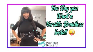 Braid-less Sew-in tutorial