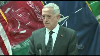 Defense Secretary Mattis Speaks to the Press in Afghanistan