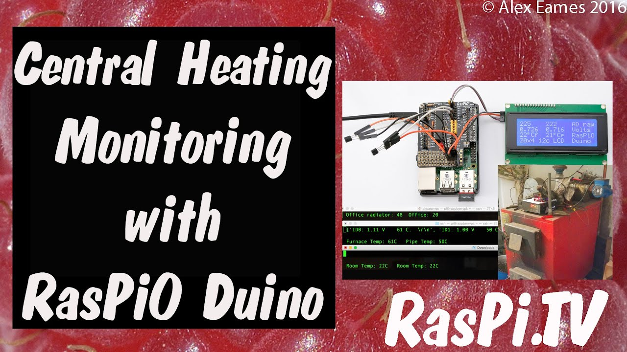 Central Heating Furnace Monitoring and Control with RasPiO
