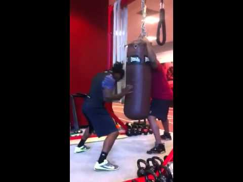 Dj Swearinger punching bag
