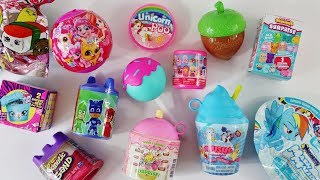 Squishies special - My Little Pony, Shopkins + Unicorn glitter putty, kinetic sand & surprises